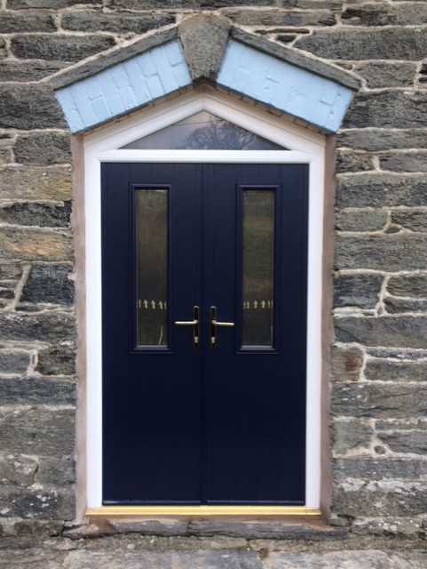 uPVC Shaped Double Doors replace existing Timber